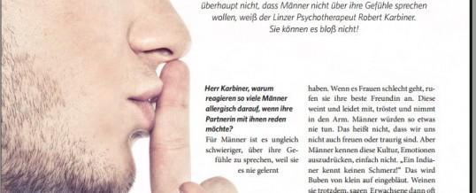 DAS SCHWEIGEN DER MÄNNER – Artikel veröffentlicht in der Oberösterreicherin